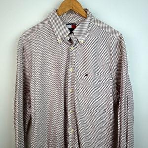 Tommy Hilfiger Plaid Checkered Button Down Shirt L